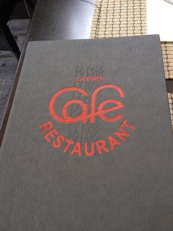 Restaurant Café de la Paix : Menu