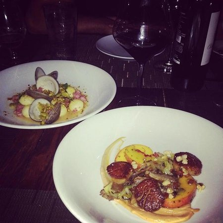 The Macintosh: Gnudi & Seared Scallops with Peaches