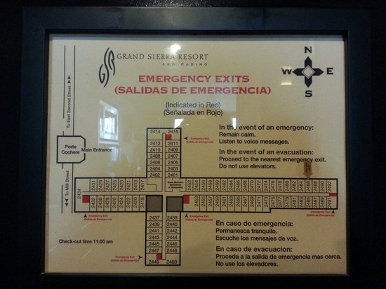 Grand Sierra Resort and Casino: Emergency exits