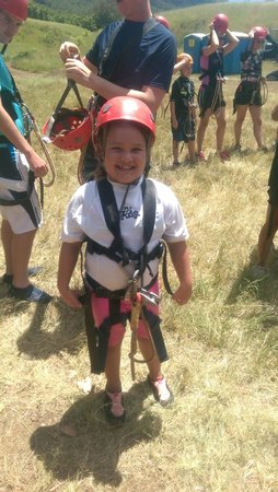 Outfitters Kauai: My niece enjoying her first zipline adventure!
