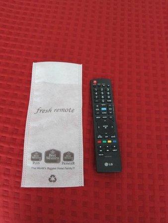 Best Western Plus Sandcastle Beachfront Hotel: remote control