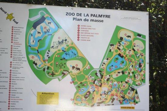 La Palmyre Zoo : Plan du zoo