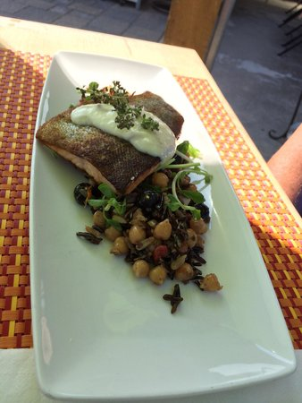 The Good Earth Food and Wine Co.: The trout.   Loved it!