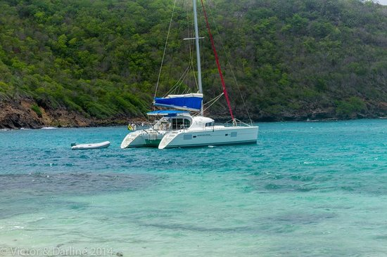 Sugar Reef Bequia: Our Catamaran for the Day!  Contact the African!