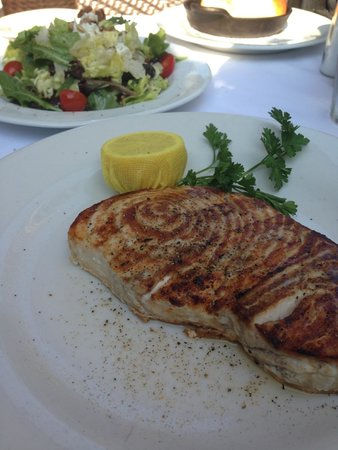 Abe & Louie's: Wood Fire Swordfish.