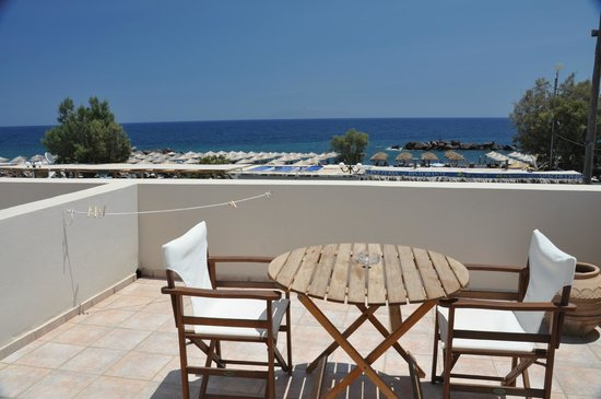 El Mar Villas: our huge balcony and lovely view