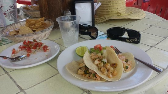 Mr Sanchos Beach Club Cozumel : the shrimp tacos