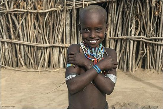 Omo National Park and River : Child from Arbore tribe.