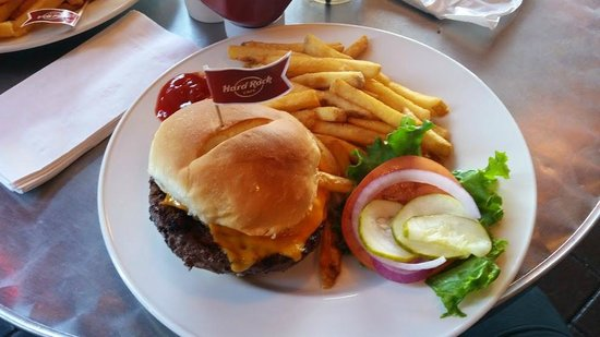 Hard Rock Cafe: That was my burger. It was very good and much.