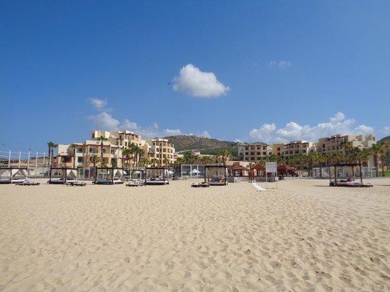 Pueblo Bonito Pacifica Resort & Spa: View of resort from beach