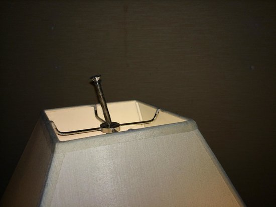 Rodeway Inn & Suites : Random bolt used to hold together the lamp shade