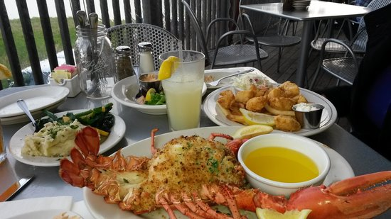 Robert's Maine Grill: Baked stuffed lobster & fried scallops