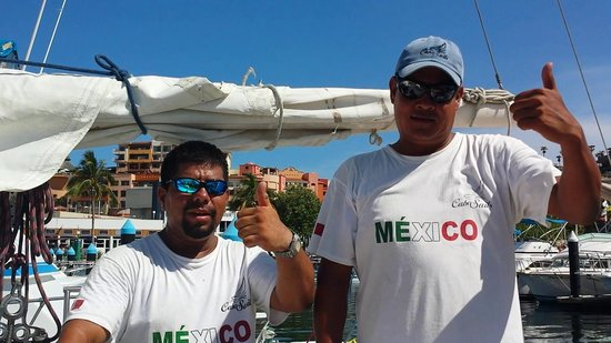 Cabo Sails: First mate Poncho and Capt Ricky Ricardo
