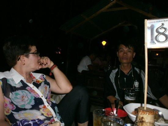 Puerto Princesa City Baywalk Park: Jaya and Sgt Randy