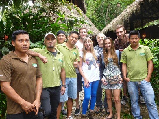 Cotococha Amazon Lodge: Despedida con todo el staff, gracias a todos!!