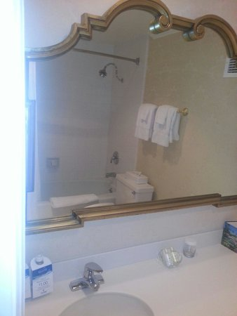 Town and Country San Diego: Vanity area-pics are from room#3 of our stay.