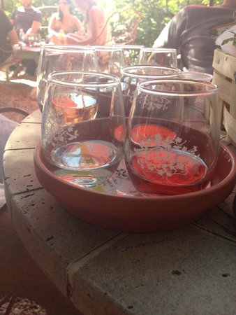 Croteaux Vineyards: flight of rosé