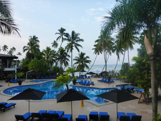 The Warwick Fiji: view from our room