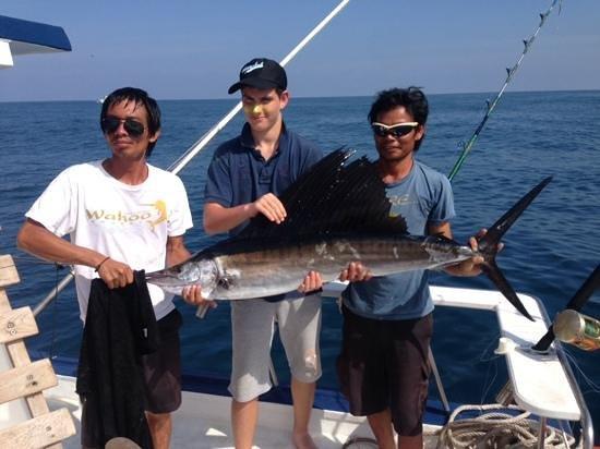 phuket fishing charters :wahoo amazing day out 5 sailfish; Aug14
