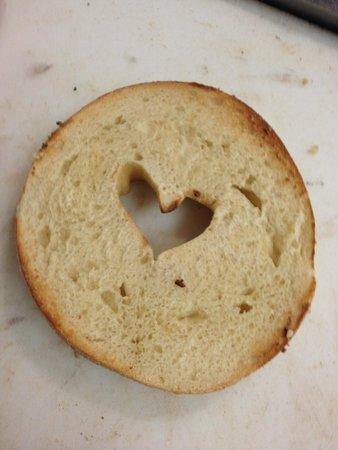 Elizabeth's Bagels & More : bagel heart!