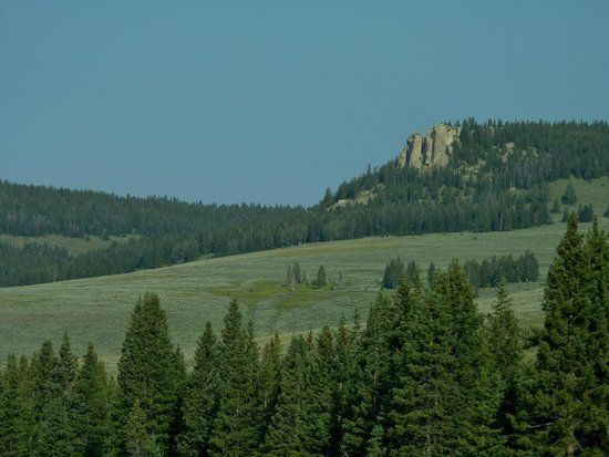 Bighorn National Forest: sagebrush and outcrops