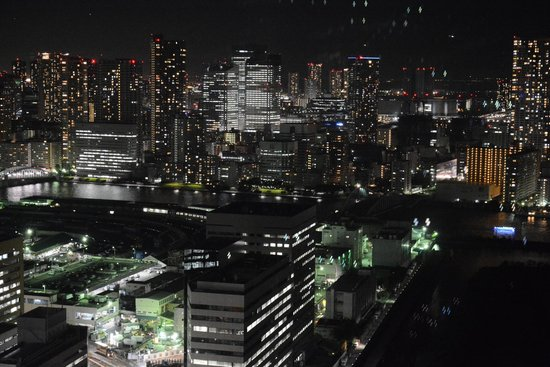 Royal Park Hotel The Shiodome, Tokyo: night view from our window