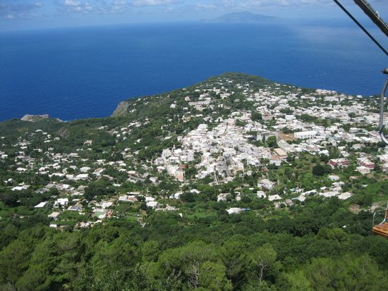 Mount Solaro : Looking over Anacapri from the chairlift