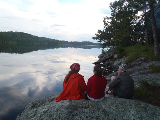 Boundary Waters Canoe Area Wilderness : Days end on Kasakokwog Lake, Quetico Provincial Park