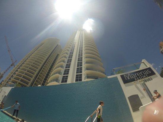 Marenas Beach Resort: Pool View Of Marenas Resort