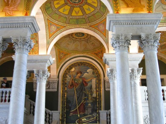 Biblioteca del Congreso: Roman Goddess Minerva Mosaic