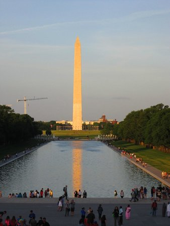 The reflecting pool from the steps of the Lincoln Memorial
