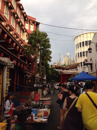 Jonker street packed with tourists
