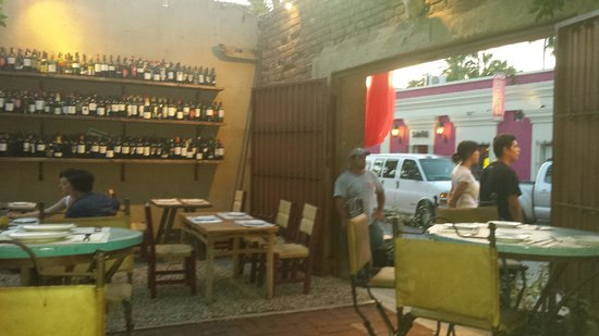 La Osteria: View from table to street