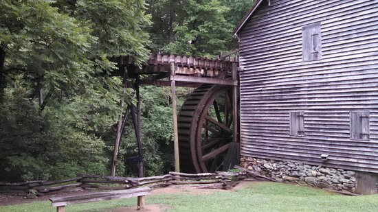 Hagood Mill Historic Site: Waterwheel at the old mill