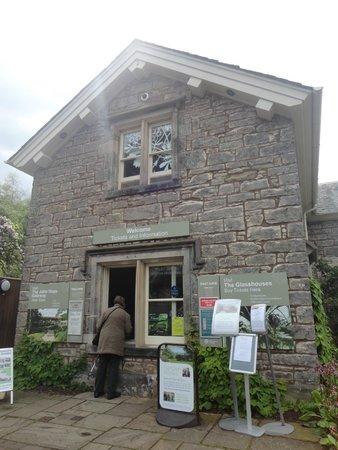 Royal Botanic Garden Edinburgh : recepção de uma das entradas
