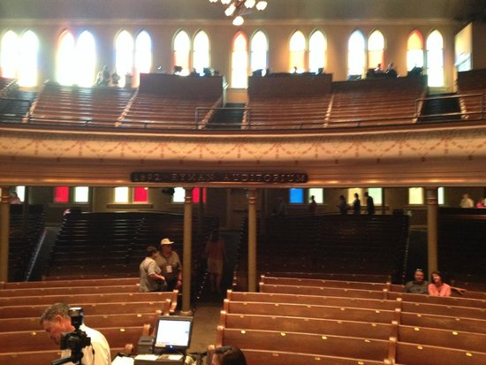Ryman Auditorium: Looking out from the stage.