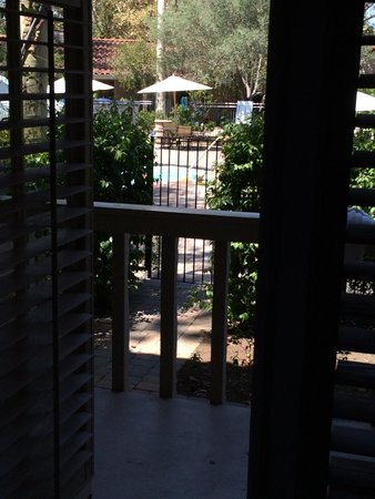 Rancho Bernardo Inn: View out the back door to the family pool