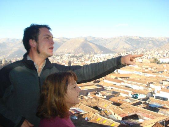 Hostal Wara Wara: Vista desde el balcón.