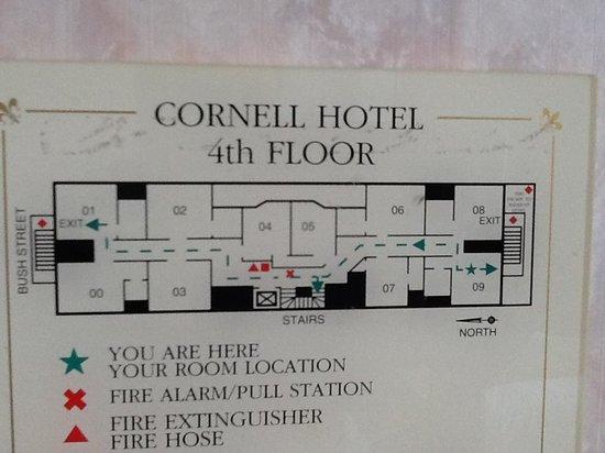 Cornell Hotel de France: Floor plan