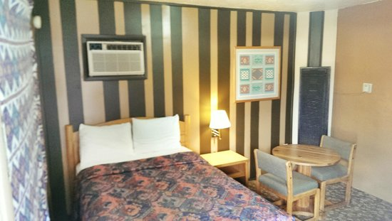 Belle-Aire Motel : Room # 20 : One bed with TV, Fridge, Microwave, Shower and Free- WiFi