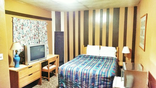 Belle-Aire Motel : Room # 22: One Queen Size bed with TV, Fridge, Microwave, Shower and Free- WiFi