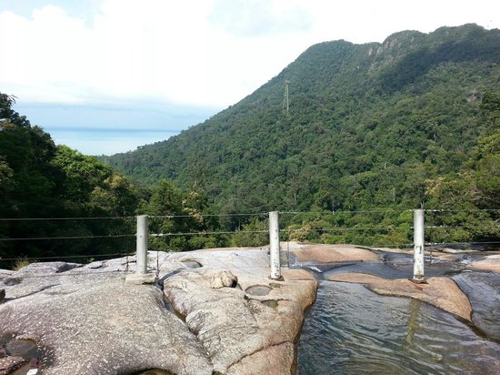 Telaga Tujuh Waterfalls: Vue depuis le spot le plus haut