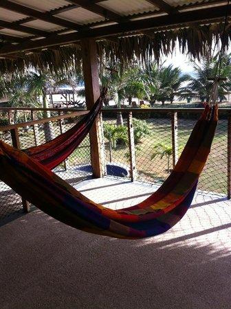Hostal Kundalini: balcón