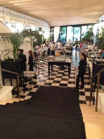 El Palace Hotel: The pretty breakfast place