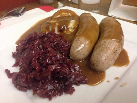 Red Viking Restaurant: Lunch special Danish sausages