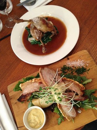 Three Little Pigs : Pork Belly and Duck Confit