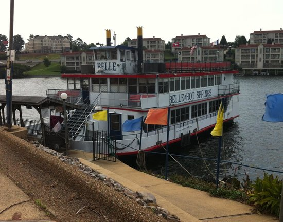 Belle of Hot Springs Riverboat: the ramp down to the boat