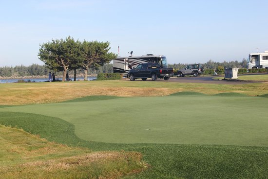 Winchester Bay RV Resort: A putting green is available - you can ask for a putter