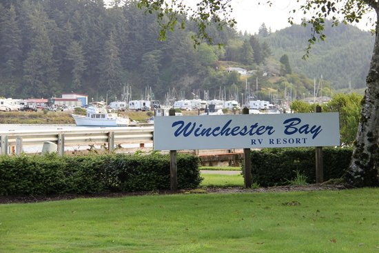 Winchester Bay RV Resort : The entry area