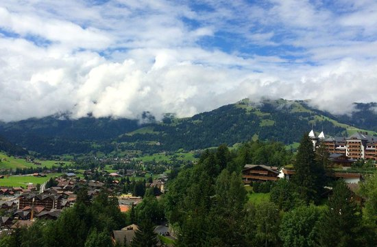 Gstaad Palace Hotel: view from our room